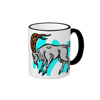 Capricorn Old Woodcut Ringer Mug