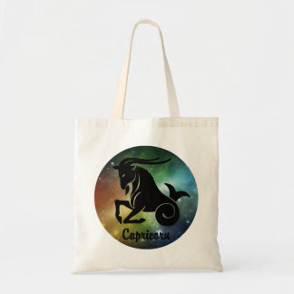 Capricorn On Space Background Tote Bag