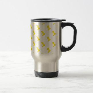 Capricorn Pattern Yellow Travel Mug