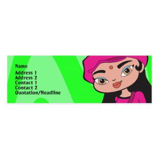 Capricorn Profile Card Mini Business Card
