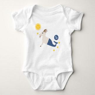 Capricorn sea goat baby bodysuit zodiac star sign
