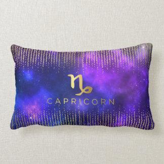 Capricorn Sign Custom Name Lumbar Throw Pillow