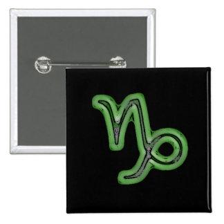 Capricorn Star Sign Symbol 2 Inch Square Button