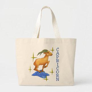 Capricorn (stars) large tote bag