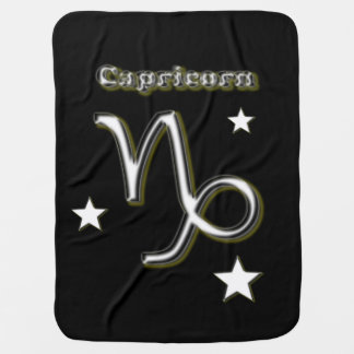 Capricorn symbol baby blanket