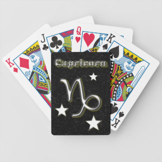 Capricorn symbol bicycle playing cards