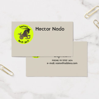 CAPRICORN SYMBOL BUSINESS CARD