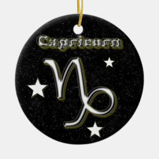 Capricorn symbol ceramic ornament