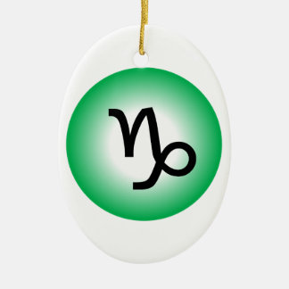 CAPRICORN SYMBOL CERAMIC OVAL ORNAMENT