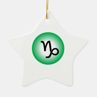 CAPRICORN SYMBOL CERAMIC STAR ORNAMENT
