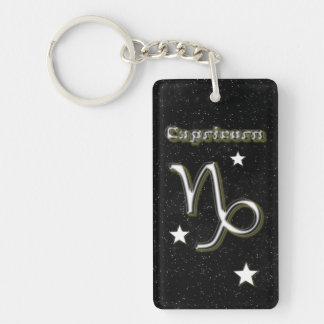 Capricorn symbol keychain