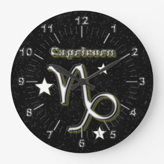 Capricorn symbol large clock
