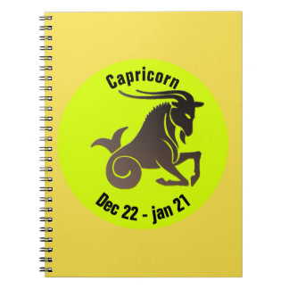CAPRICORN SYMBOL NOTEBOOK