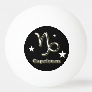 Capricorn symbol ping pong ball