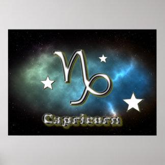 Capricorn symbol poster