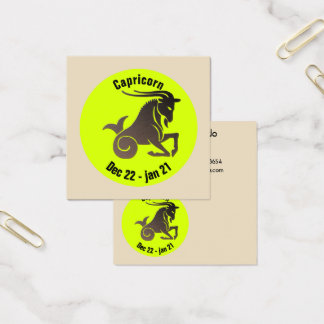 CAPRICORN SYMBOL SQUARE BUSINESS CARD