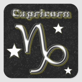 Capricorn symbol square sticker