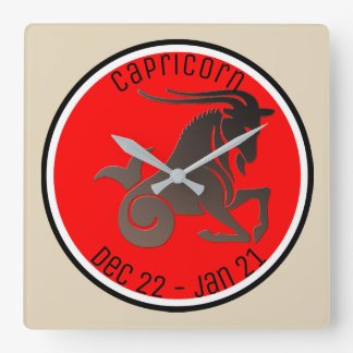 CAPRICORN SYMBOL SQUARE WALL CLOCK