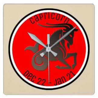CAPRICORN SYMBOL SQUARE WALL CLOCK
