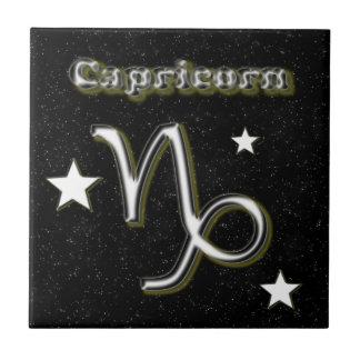 Capricorn symbol tile