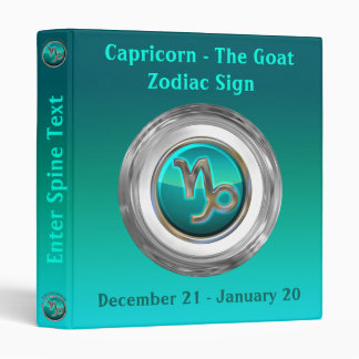 Capricorn - The Goat Astrological Sign 3 Ring Binders