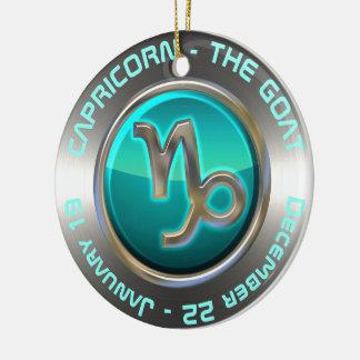 Capricorn - The Goat Astrological Sign Ceramic Ornament