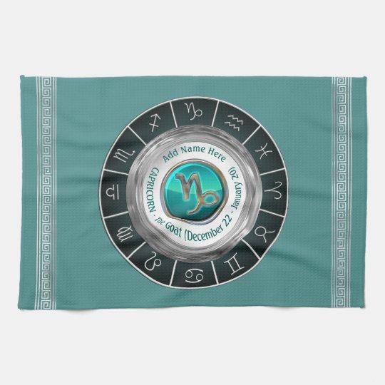 Capricorn - The Goat Zodiac Sign Kitchen Towel