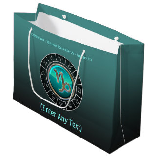 Capricorn - The Goat Zodiac Sign Large Gift Bag