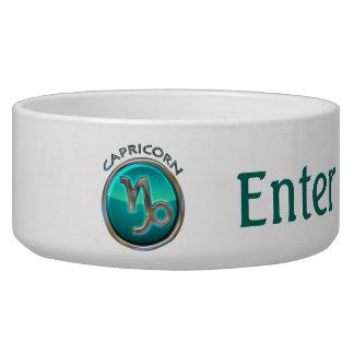 Capricorn - The Goat Zodiac Sign Pet Water Bowl