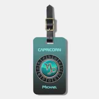 Capricorn - The Goat Zodiac Symbol Luggage Tag