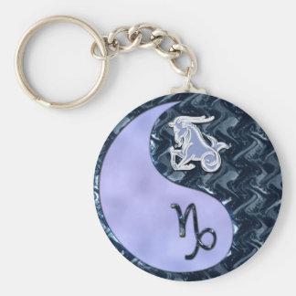 Capricorn Yin Yang Keychain