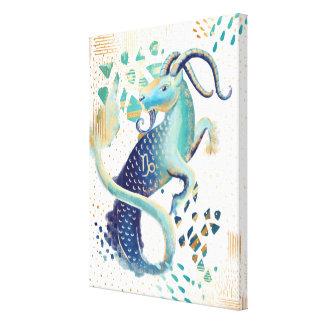 Capricorn Zodiac Abstract Watercolour Wall Art