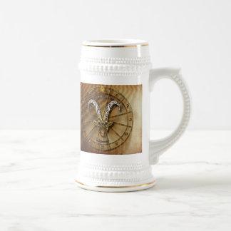 Capricorn Zodiac Astrology design Beer Stein