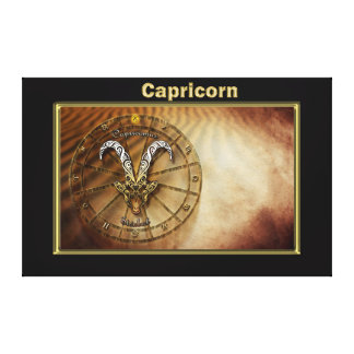 Capricorn Zodiac Astrology design Canvas Print