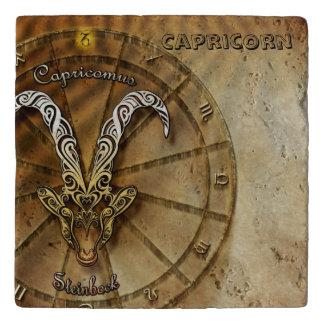 Capricorn Zodiac Astrology design Trivet