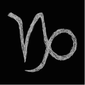Capricorn. Zodiac Astrology Sign. Black. Photo Cutout