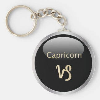 Capricorn zodiac astrology star sign keychain