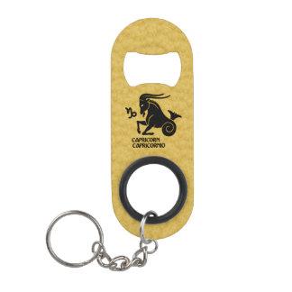 Capricorn Zodiac Black Gold Key-ring Bottle opener Keychain Bottle Opener