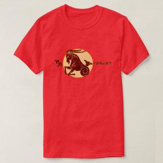 Capricorn Zodiac Garnet color Designer T-Shirt
