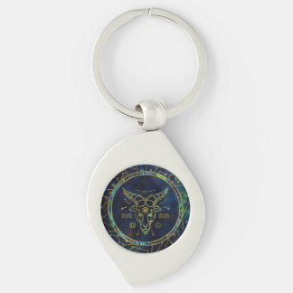 Capricorn Zodiac Gold Abalone on Constellation Keychain
