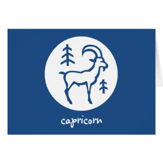 Capricorn Zodiac Horoscope Astrology Card