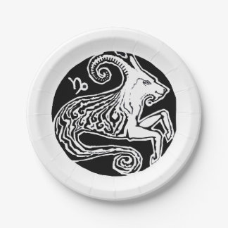 Capricorn - Zodiac Party paper plate