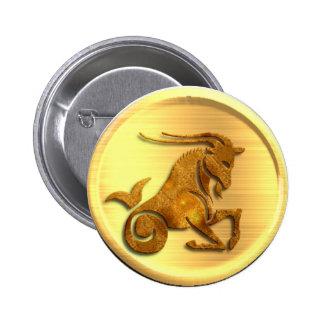 Capricorn Zodiac Round Button