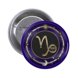 Capricorn Zodiac Sign 2 Inch Round Button