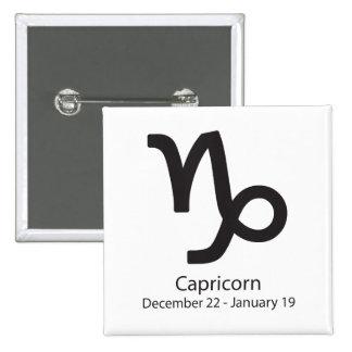 Capricorn zodiac sign December 22 - January 19 2 Inch Square Button