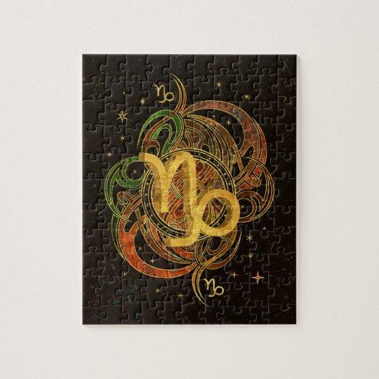 Capricorn Zodiac Sign Earth element Jigsaw Puzzle | Zazzle.ca