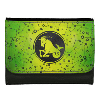 Capricorn Zodiac Sign Earth element Leather Wallet For Women