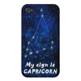 CAPRICORN zodiac sign - iPhone 4 featured matte iPhone 4 Cases