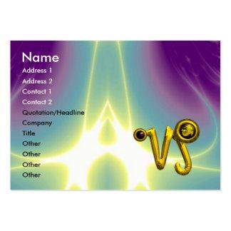 CAPRICORN ZODIAC SIGN JEWEL IN LIGHT WAVES BUSINESS CARD TEMPLATES