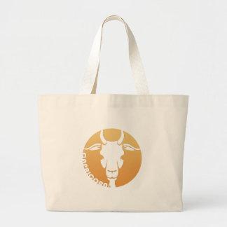 Capricorn Zodiac Sign Large Tote Bag